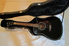 Yamaha FX370C Electronic Acoustic Guitar - Black   Come with Hard Case  Nice!!