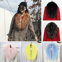 Ladies Women Winter Faux Fur Collar Scarf Fluffy Winter Shawl Wrap Stole Scarfs
