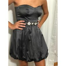 03a4b540679 Agaci Gray Dress with Rhinestone Belt