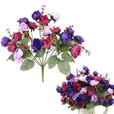 Artificial Rose Bridal Bouquet Silk Wedding Flowers Party Centerpieces Decor