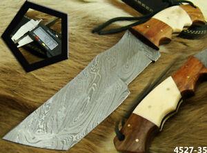 "ALISTAR HANDMADE 11"" DAMASCUS STEEL HUNTING TRACKER KNIFE W/SHEATH (4527-35"