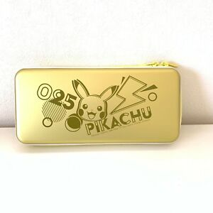 <Quick Ship>HORI Pokemon Pikachu Aluminum Gold Case for Nintendo Switch, NSW-267