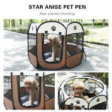 """Portable 32"""" Oxford Pet Puppy Soft Tent Playpen Dog Cat Folding Cage Crate House"""