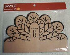 SPRITZ Turkey Cardboard Headbands Craft 10 Count Thanksgiving/Fall