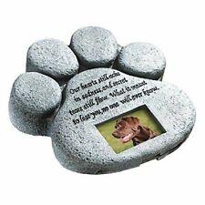 Urns Paw Print Pet Memorial Stone Gravestones Picture Grave Garden Dog Puppy