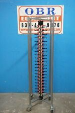 84 Plates Verticle Collapsible Mobile Plate Holder Rack