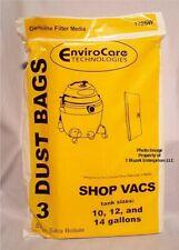 ShopVac Bags 10 12 14  gallon 90662 Shop Vac 906-62-00 Pack of 3