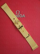 NWD 18MM FINEST MILANESE MESH GOLD WATCH BAND WATCHBAND BRACELET STRAP FOR OMEGA