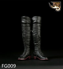 """Fire Girl Toys FG009 1/6 Black Long Combat Boots For 12"""" Female Figure Body"""