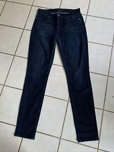 LUCKY BRAND Dark Wash Women's BROOKE SKINNY Stretch Jeans Sz 6/28 Reg