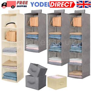 Tidy Hanger Hanging Wardrobe Storage Organiser Shelf Kids Clothes Bag Shoes  Box