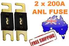 2 x 200AMP ANL Fuse for Dual Battery & Amplifier Wiring Kit Fuse Holders 200 A