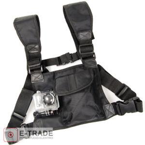 New Adjustable Chest Harness Strap Mount Pocket Strap Shoulder for GoPro Hero TS