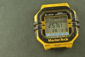 PRE OWNED LORUS by SEIKO MARINE TECH DIVERS SWIMMERS WATCH, 200 WATER RESIST