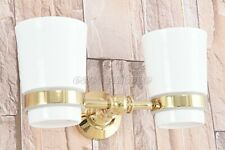Gold Color Brass Bathroom Accessories Set Bath Hardware Toothbrush Holder eba315