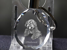 Otterhound, Dog Crystal Round Keyring, High Quality, Crystal Animals Ca