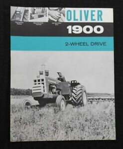 """1963 """"THE OLIVER 1900 2-WHEEL DRIVE TRACTOR"""" SPECIFICATIONS BROCHURE VERY NICE"""