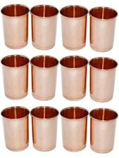 Drinking Glass Copper Glass 100% Pure Copper Tumbler Health Healing Set of 12