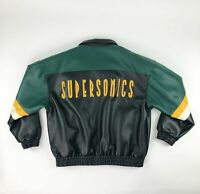 VTG NBA Seattle Super Sonics / Sonics Harbor Tec Jacket Adult Large