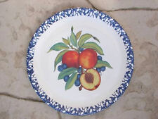 "LARGE Italian Serving Plate Platter Tray 15"" FRUIT Sponge Art New Made in Italy"