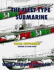 FLEET TYPE DIESEL SUBMARINE Color DIAGRAMS BOOK WWII U.S. NAVY Book