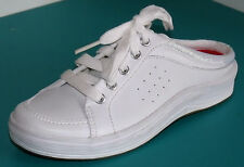 MULES SLIP-ON BASKETS TENNIS A LACETS 31 US 13 cuir blanc fille KEDS sample NEUF