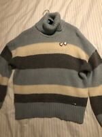 Ted Baker Mo Hair Striped Roll Neck Jumper. Ted Size 2 Uk 10.