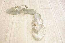 **Jack Rogers Sparkle Alana Jelly Thong Sandal - Women's Size 5 - Silver