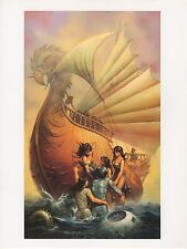 """1990 Vintage KEN KELLY """"MAROONED"""" SCI-FI SWEET VIXENS COLOR Art Plate Lithograph"""