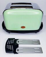Vintage Morphy Richards Toaster 2 Slice Retro Props Art Deco Green 44763 Works