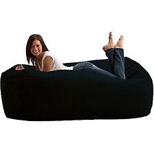 Large Bean Bag Media Lounger 6 ' Fuf Black Oversize Memory Foam Chair Lounge Big