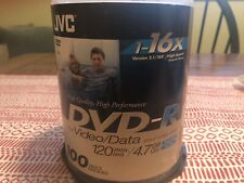 JVC DVD+R For Video/Data 70+ Discs Opened  Single Sided 120 Min/4.7GB