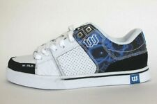 41b5d939581f85 Men s Shoes World Industries Villain Skate Shoe Size 9.5 White Blue  Skull Black