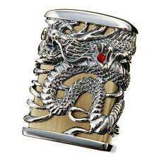 Zippo Tenryu Sky Dragon Full Metal Jacket Brass Nickel Heavy Weight Oil Lighter