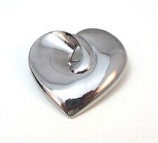Pin / Brooch * Lc Silver Tone Heart