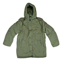 Winter Jacket Army Style Parka Padded Insulated Dubon Hooded Olive Field Coat