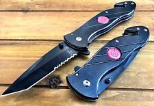 "8.5 "" NARUTO Anime Tactical Spring Assisted Pocket Knife W Cutter Custom Sword"
