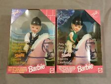 2x Pony Spaß Shelly / Reiterin / Pony Riding Kelly Puppe - Mattel Barbie 1998