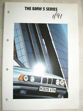 BMW 5 Series range brochure 1991 ed 1