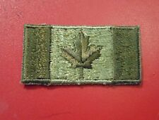 CANADA Canadian Armed Forces IRON ON Maple Leaf flag shoulder patch badge OD
