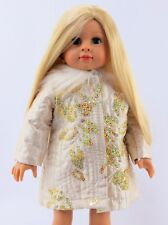 "Gold Sequin Flower Coat Fits 18"" American Girl Doll Clothes"