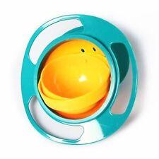 Gyro Bowl 360 Degree UFO Gyroscope Kids Bowl Never-spill-food Baby Bowl New
