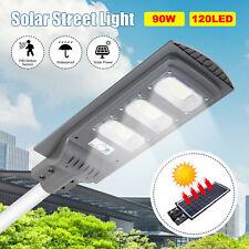 90W Remote Control Radar PIR Motion Sensor Solar Street Wall Pole Lamp LED Light
