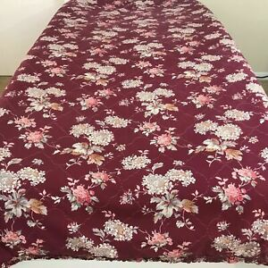 """Rose Quilt Floral Bedspread Flowers Bed Cover Comforter Blanket Twin 60"""" X 86"""""""