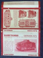 Vintage RARETANKS 1 : 76 Scale German A7V Tank