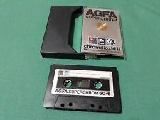 AGFA Chromdioxid 60+6 COMPACT CASSETTE Vintage Blank TYPE II Audio Tape RARE NOS