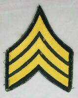 VINTAGE U.S. Army Sargent Sew-On Shoulder Patch Previously Used