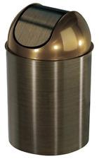Oil Rubbed Bronze Trash Can Garbage Wastebasket Waste Basket With Lid Bathroom