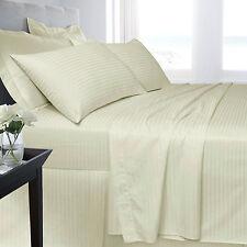 Letto MATRIMONIALE 250 Thread Count Lenzuolo Panna Luxury Hotel Cotone Egiziano