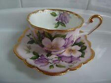 Vintage Windsor Nasturtium Floral TEA CUP AND SAUCER Set  EC England